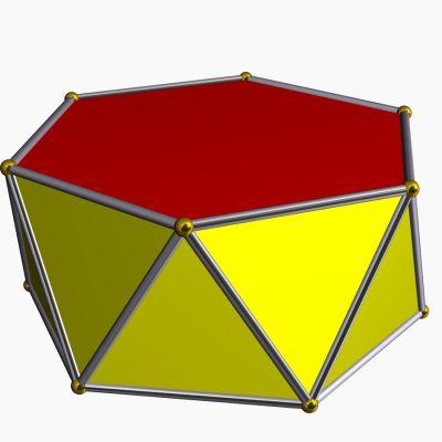 Hexagonal antiprism - Stella software