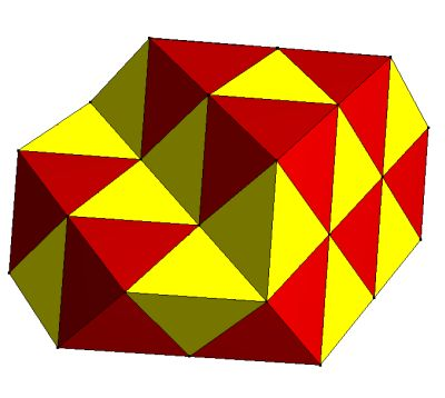 Tetrahedral-octahedral honeycomb PD
